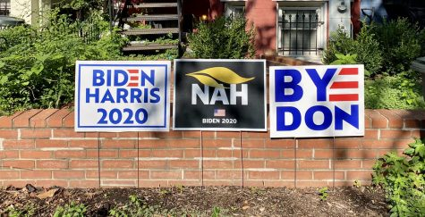 Three yard signs for the Joe Biden campaign. Photo courtesy of Joe Flood on CreativeCommons.