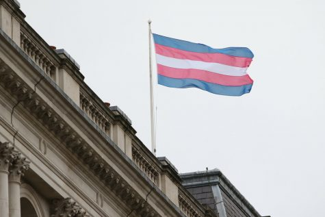"""Transgender Pride Flag"" by Foreign, Commonwealth & Development Office is licensed with CC BY 2.0."