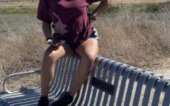 Senior Nani Delgado while taking a break from Zoom and going outdoors. Photo courtesy of Nani Delgado.