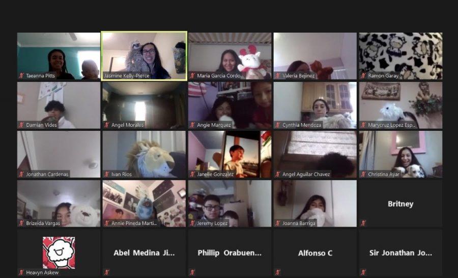 Screenshot of students during Jasmine Kelly-Pierce