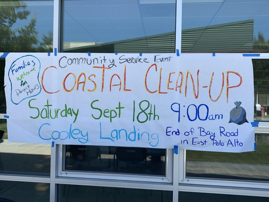 Coastal Clean Up announcement poster created by the interact club members.
