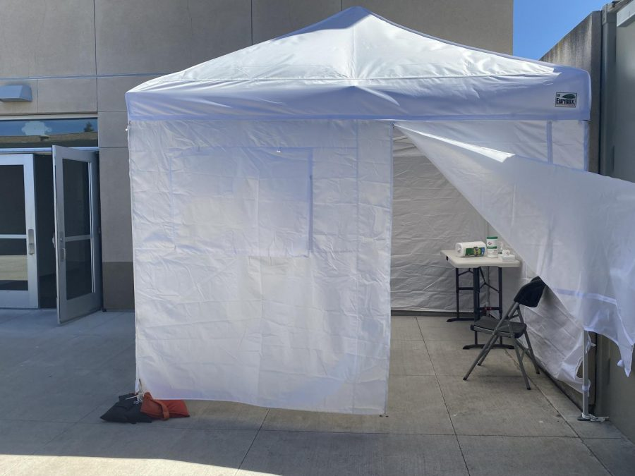 Mystery Tent Supports Health on Campus