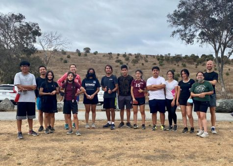 The Eastside Cross Country Team with coaches (Hai Tran, Jasmine Kelly-Pierce, and Cal Trembath) after the ParkRun event. Photo courtesy of Elder Enriquez.